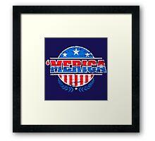 Merica symbol Framed Print