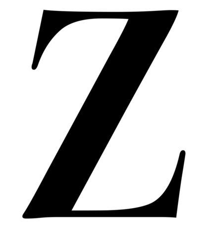 Z - Black  Sticker