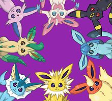 Eeveelutions by IamSare