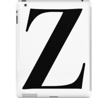 Z - Black  iPad Case/Skin