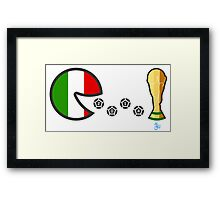 Italy World Cup 2014 Framed Print