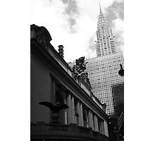 Grand Central & Chrysler Building - B&W Photographic Print