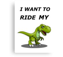 i want to ride my bicycle / bike Canvas Print