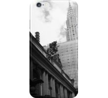Grand Central & Chrysler Building - B&W iPhone Case/Skin
