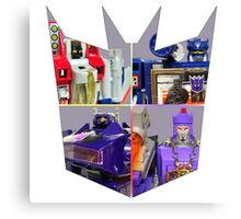 TRANSFORMERS FIGURES!!! G1 Decepticon Logo  Canvas Print