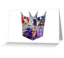 TRANSFORMERS FIGURES!!! G1 Decepticon Logo  Greeting Card