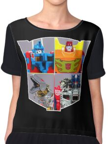 TRANSFORMERS FIGURES!!! G1 Autobot Logo  Chiffon Top