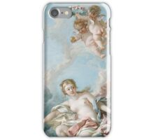 Francois Boucher - Venus On The Waves. Woman portrait: sensual woman, girly art, female style, pretty women, femine, beautiful dress, cute, creativity, love, sexy lady, erotic pose iPhone Case/Skin