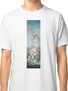 Francois Boucher - Venus On The Waves. Woman portrait: sensual woman, girly art, female style, pretty women, femine, beautiful dress, cute, creativity, love, sexy lady, erotic pose Classic T-Shirt