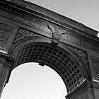 Washington Square Park Arch - B&W by Amanda Vontobel Photography