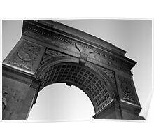 Washington Square Park Arch - B&W Poster
