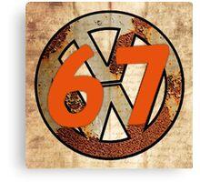 67 VW Logo Canvas Print