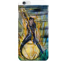 Nikola Tesla Riding The Light Bulb iPhone Case/Skin