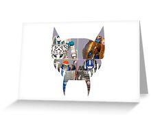 TRANSFORMERS FIGURES!!! Beast Wars Maximal Logo  Greeting Card