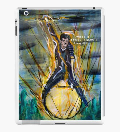 Nikola Tesla Riding The Light Bulb iPad Case/Skin