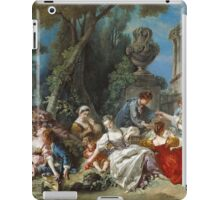 Francois Boucher - The Bird Catchers 1748. Picnic painting: picnic time, man and woman, holiday, people, family, travel, garden, outdoor meal, eating food, nautical panorama, picnic iPad Case/Skin