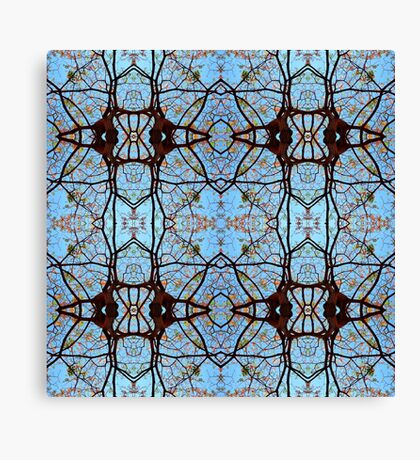 Nature's stained Glass Windows Canvas Print