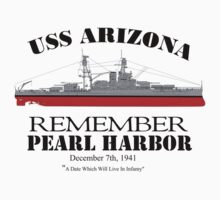 USS Arizona - Remember Pearl Harbor by VeteranGraphics