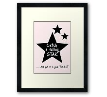 Catch a Falling Star - Pink Framed Print