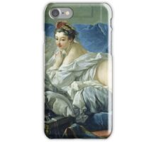 Francois Boucher - The Odalisque. Woman portrait: sensual woman, girly art, female style, pretty women, femine, beautiful dress, cute, creativity, love, sexy lady, erotic pose iPhone Case/Skin