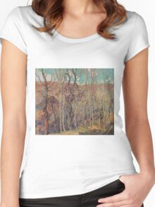 Franklin Carmichael - Silvery Tangle 1921. Forest view: forest view, trees, field, nature, botanical forestry, floral flora, wonderful flowers, plants, cute plant, garden, flowers Women's Fitted Scoop T-Shirt