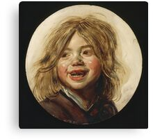 Frans Hals - Laughing Child 1620. Child portrait: cute baby, kid, children, pretty angel, child, kids, lovely family, boys and girls, boy and girl, mom mum mammy mam, childhood Canvas Print