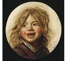 Frans Hals - Laughing Child 1620. Child portrait: cute baby, kid, children, pretty angel, child, kids, lovely family, boys and girls, boy and girl, mom mum mammy mam, childhood Photographic Print