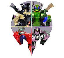 TRANSFORMERS FIGURES!!! Beast Wars Predacon Logo Photographic Print