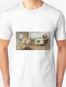 Frans Snyders - A Cock Fight. Bird painting: cute fowl, fly, wings, lucky, pets, wild life, animal, birds, little small, bird, nature Unisex T-Shirt