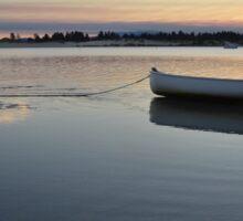 sunset boat Sticker