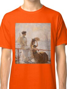 Frank Weston Benson - Summer Day. Woman portrait: sensual woman, girly art, female style, pretty women, femine, beautiful dress, cute, creativity, love, sexy lady, erotic pose Classic T-Shirt
