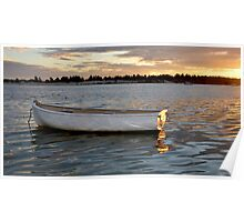 evening boat at Pittwater Poster