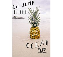 Pineapple at the Beach Photographic Print