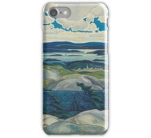 Franklin Carmichael - Autumn Hillside 1920. Forest view: forest view, trees, field, nature, botanical forestry, floral flora, wonderful flowers, plants, cute plant, garden, flowers iPhone Case/Skin