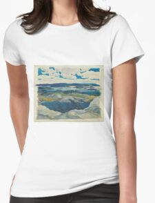 Franklin Carmichael - Autumn Hillside 1920. Forest view: forest view, trees, field, nature, botanical forestry, floral flora, wonderful flowers, plants, cute plant, garden, flowers Womens Fitted T-Shirt