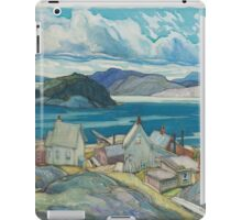 Franklin Carmichael - Jackfish Village 1926. Country landscape: village view, country, buildings, house, rustic, farm, field, countryside road, trees, garden, flowers iPad Case/Skin