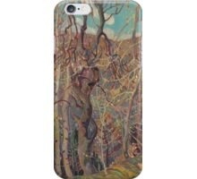 Franklin Carmichael - Silvery Tangle 1921. Forest view: forest view, trees, field, nature, botanical forestry, floral flora, wonderful flowers, plants, cute plant, garden, flowers iPhone Case/Skin