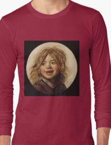 Frans Hals - Laughing Child 1620. Child portrait: cute baby, kid, children, pretty angel, child, kids, lovely family, boys and girls, boy and girl, mom mum mammy mam, childhood Long Sleeve T-Shirt