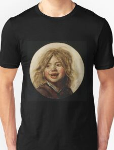 Frans Hals - Laughing Child 1620. Child portrait: cute baby, kid, children, pretty angel, child, kids, lovely family, boys and girls, boy and girl, mom mum mammy mam, childhood Unisex T-Shirt
