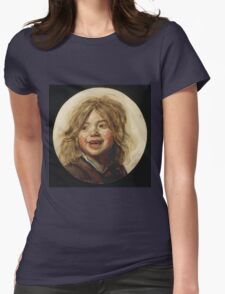 Frans Hals - Laughing Child 1620. Child portrait: cute baby, kid, children, pretty angel, child, kids, lovely family, boys and girls, boy and girl, mom mum mammy mam, childhood Womens Fitted T-Shirt
