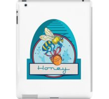 Bee Carrying Honey Pot Skep Circle Retro iPad Case/Skin