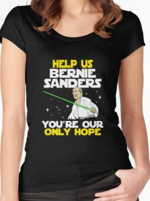 FUNNY HELP US BERNIE - TSHIRT BEST GIFT IDEA FOR MEN AND WOMEN Women's Fitted Scoop T-Shirt