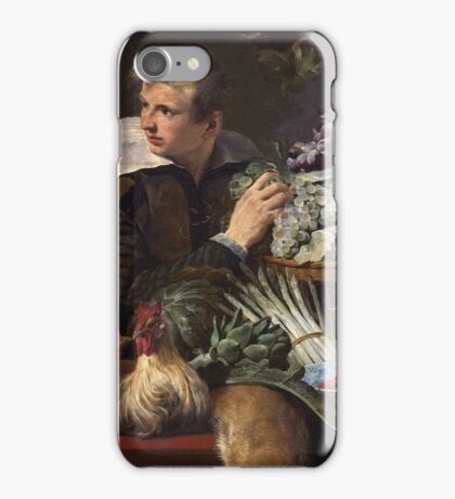 Frans Snyders - Pantry Scene With Servant. hunting scenes painting: hunting man, nature, male, forest, wild life, masculine, dogs, hunt, manly, hunters men, hunter iPhone Case/Skin