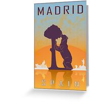 Madrid vintage poster Greeting Card