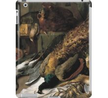 Frans Snyders - Still Life With A Wine Cooler 1610 - 1620 . hunting scenes painting: hunting man, nature, male, forest, wild life, masculine, dogs, hunt, manly, hunters men, hunter iPad Case/Skin