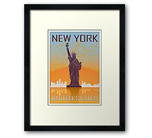 New York vintage poster Framed Print