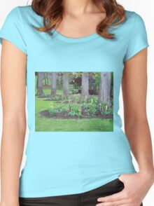 Plant yourself where nature blooms  Women's Fitted Scoop T-Shirt