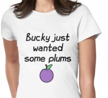 Bucky just wanted some plums!  Womens Fitted T-Shirt