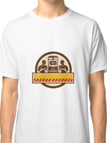 Train Engineers Arms Crossed Diesel Train Circle Retro Classic T-Shirt