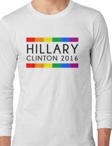 Hillary Clinton 2016 Rainbow Flag Long Sleeve T-Shirt